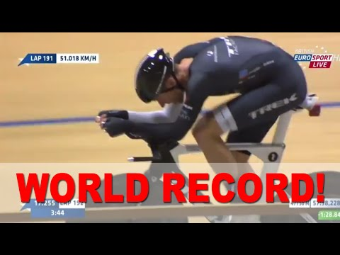 Final Laps Jens Voigt -  OFFICIAL UCI TRACK WORLD HOUR RECORD