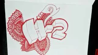 H-2 Letter with Doodle   RCK ART