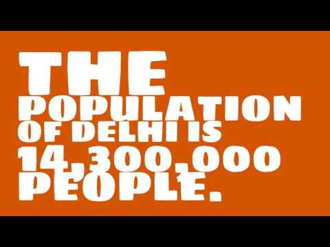 What is the population density of Delhi?