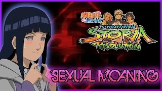 Why does Hinata Moan Sexually while fighting?