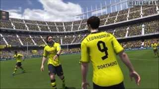 Fifa 2014 Gameplay Borussia Vs Milan [ Full HD ]