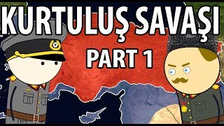 Turkish War of Independence - With map teaching - ep 1.