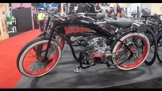 gas powered motorized bikes by Moonbikes & Micargi cycles