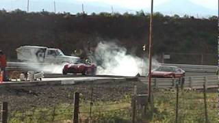 Twin turbo FFR Cobra at drag strip 6/18/10