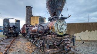 ABANDONED Shay and Plow Train / Bonus: Alcos and Big Boy