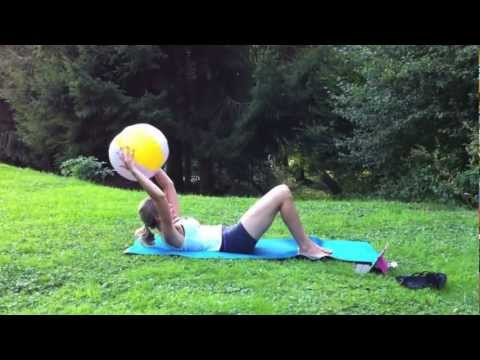 Beach Ball Fitness: 6-minute Abs + Booty