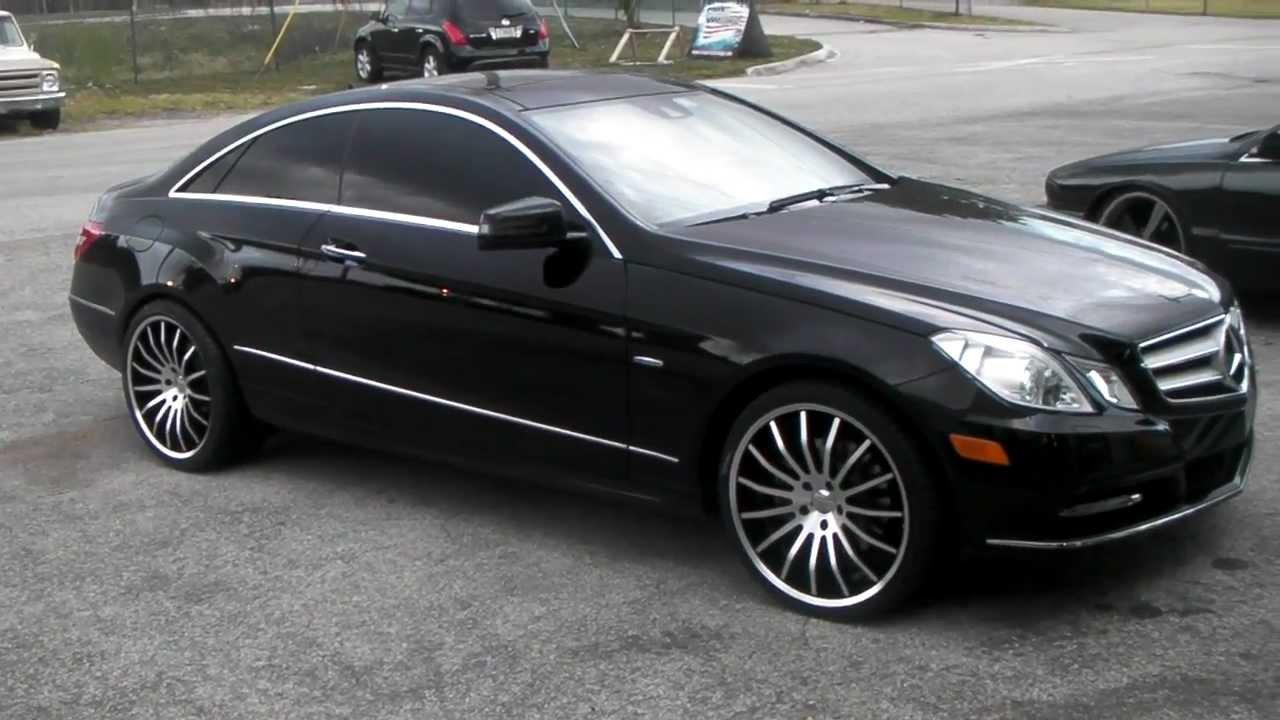 Dubsandtirescom 2012 Mercedes E Class E 350 Coupe Review 20 Inch