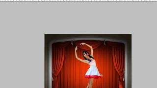 Here I take a ballerina from a black leather background to a stage. Thumbnail