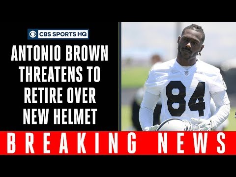 Antonio Brown says he WON'T play football with NEW NFL helmet | CBS Sports HQ