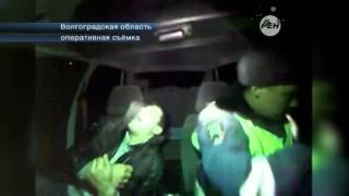 В Волгоградской области сотруднкиам ДПС пришлось наблюдать настоящую истерику задержанного ими водит