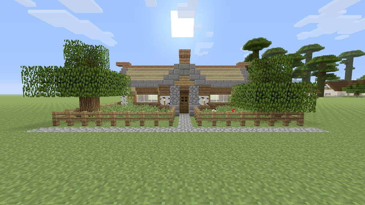 Huis Mooi Maken : Minecraft een mooie houten beginners huis maken youtube
