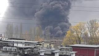 Пожар на ул Молодогвардейская 61 в Москве 20.10.2019.MP4