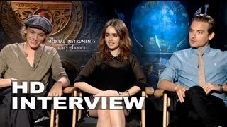 The Mortal Instruments: City of Bones: Lily Collins, Jamie Campbell Bower, Kevin Zegers Interview