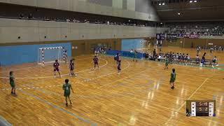 6日 ハンドボール女子 国体記念体育館Cコート 松江市立女子×飛騨高山 2回戦 1