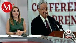 Reportero cuestiona a AMLO sobre la Columna Armada