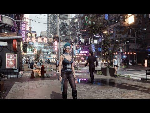 Впечатляющая демонстрация Cyberpunk 2077 на Unreal Engine