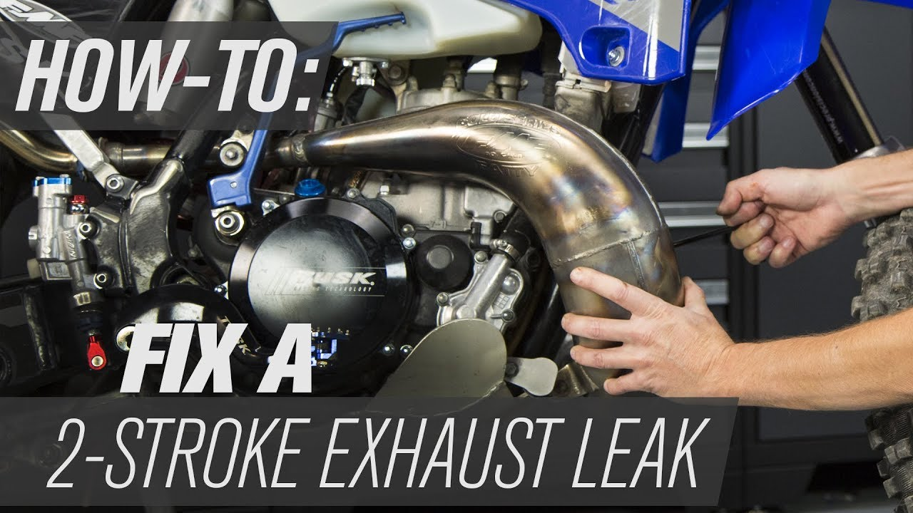 how to fix a 2 stroke motorcycle exhaust leak