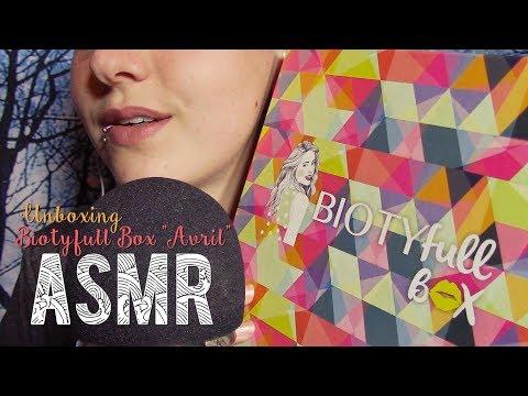 ASMR Français ~ Unboxing / Show & Tell BIOTYfull Box d'Avril