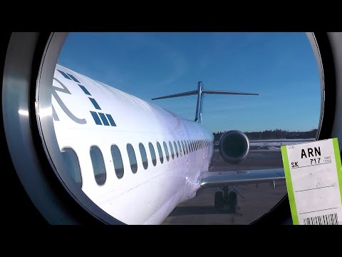 BOEING 717 flight experience - onboard Blue1 flight SK717 HEL-ARN