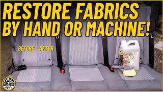 How To Restore Fabrics And Upholstery By Hand Or Machine! - Chemical Guys