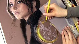 Katniss Everdeen - The Hunger Games: Mockingjay | Portrait Speed Art Drawing