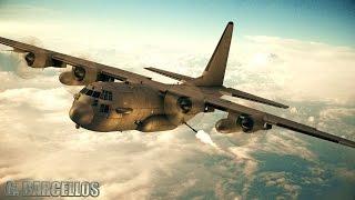 AC-130 gunship + tactical fighter squadron (Element 3D test) - VFX