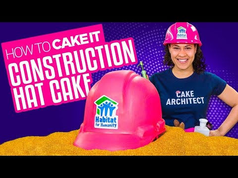How To Make a Pink Construction Hat out of Vanilla CAKE! | Yolanda Gampp | How To Cake It