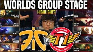 FNC vs SKT Highlights Worlds 2019 Group Stage Day 1 - Fnatic vs SKT T1 Highlights Worlds 2019