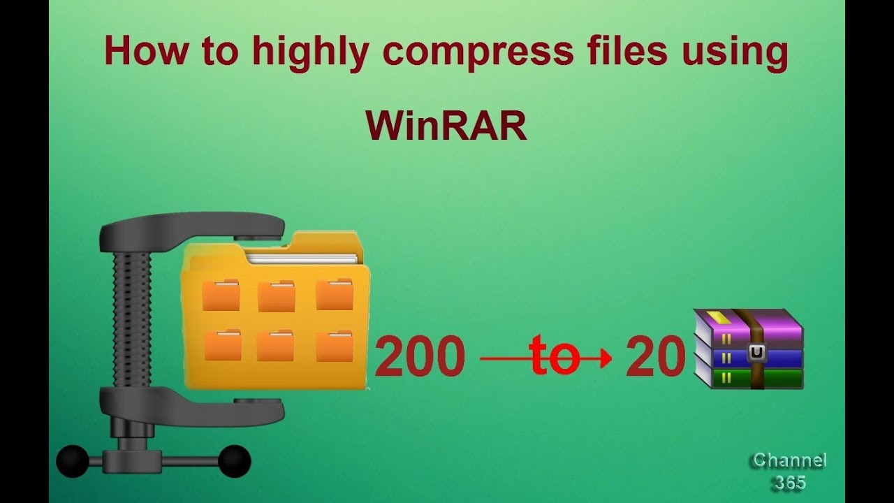 How to highly compress files using WinRAR  200 MB to 20 MB  with proof