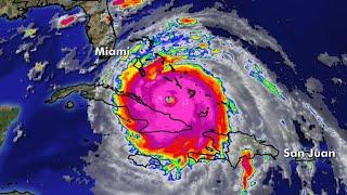 Hurricane Irma a Category 4 as it heads towards Florida