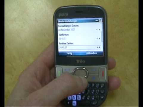 Palm Treo 500 guide - change from German to English
