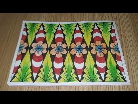 Download Menggambar Batik Motif bunga bebas part 021
