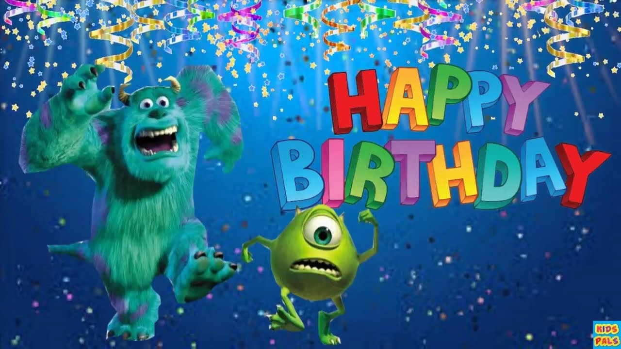 Happy Birthday Wishes From Monsters University Happy Birthday Song For Kids Youtube