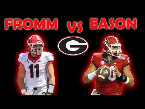 JAKE FROMM VS JACOB EASON | WHO TO START? #DAWGS #UGA