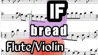 If David Gates Bread I Flute or Violin Sheet Music Backing Track Play Along Partitura