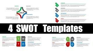 SWOT Analysis | Animated PowerPoint Slide Design Tutorial | Design 1