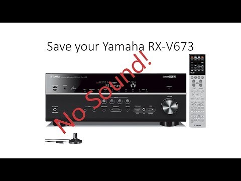 How to repair Yamaha rx-v673 no sound issue (not always a