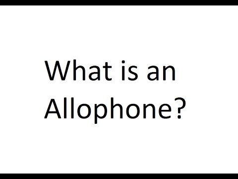 exemplify the relationship between phone phoneme and allophone