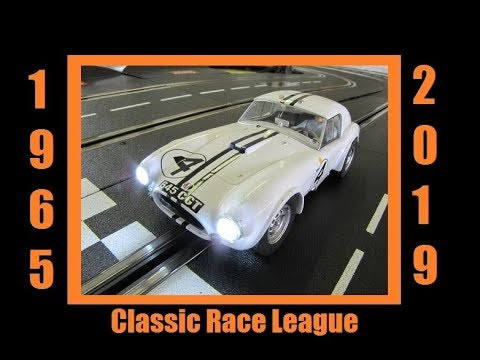 2019 1965 Classic Slot Car League Race 2 Spa Francorchamps