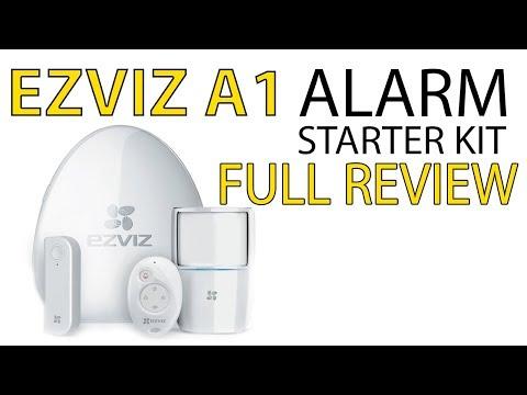 EZVIZ A1 Wireless Home Alarm Starter Kit Review Internet Alarm Hub Security System