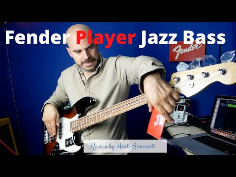 Fender Player Series Jazz Bass. Review of the Pau Ferro version.