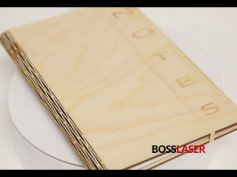 Laser Cut Living Hinge Wooden Notebook - Free File Download