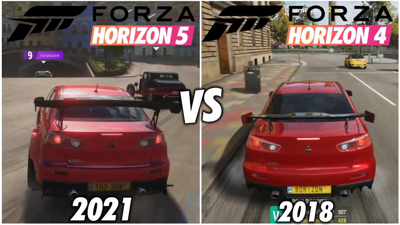 Forza Horizon 5 vs Forza Horizon 4 - Graphics Comparison