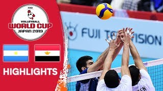 ARGENTINA vs. EGYPT - Highlights | Men's Volleyball World Cup 2019