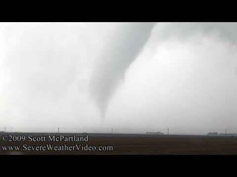 Tornado and Supercell Thunderstorm- Haskell County, KS June 14th, 2009
