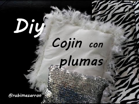 Diy. Cojin con plumas   YouTube
