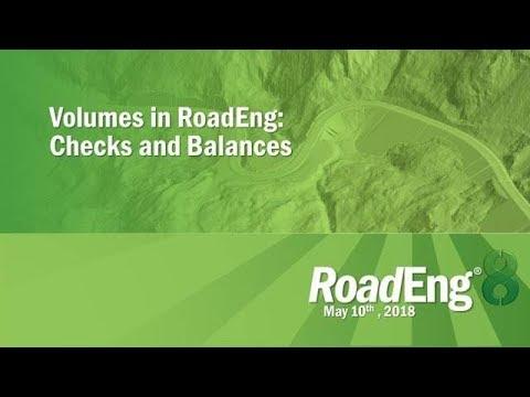 Volumes in RoadEng: Checks and Balances