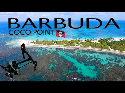 BARBUDA ~ Coco Point ~ Robert De Niro ~ Best UAV Drone Caribbean Aerials ~ WeBeYachting.com