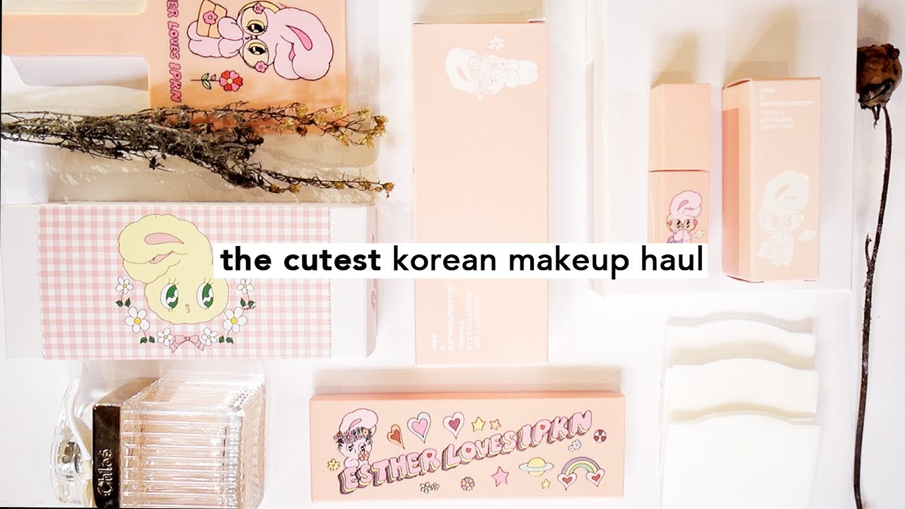 9ef624fcd74 Cute Korean Makeup Gmarket Haul & First Impressions! | IPKN x Esther Loves  You