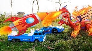 Videos for kids | Toy War Dinosaurs Tank Shoot Monsters | Car toys Trucks | Egg Toys For Kids